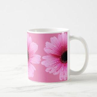Gerbera-Gänseblümchen-Rosa Kaffeetasse