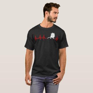 Gerbil-Herzschlag-Rhythmus-Tiervogel-Liebe-T-Shirt T-Shirt