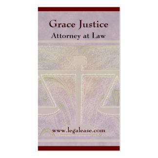 Gerechtigkeit stuft elegantes Lila ein Visitenkarten
