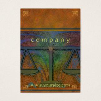 Gerechtigkeit stuft orange Nouveau ein Visitenkarte