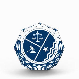 Gerechtigkeits-Anhänger-Wappen Acryl Auszeichnung