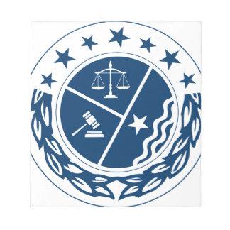Gerechtigkeits-Anhänger-Wappen Notizblock
