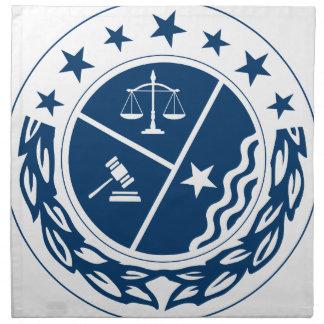 Gerechtigkeits-Anhänger-Wappen Serviette
