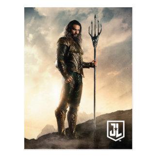 Gerechtigkeits-Liga | Aquaman auf Schlachtfeld Postkarte