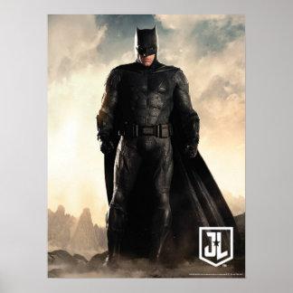 Gerechtigkeits-Liga | Batman auf Schlachtfeld Poster