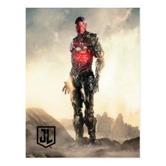 Gerechtigkeits-Liga| Cyborg auf Schlachtfeld Postkarte