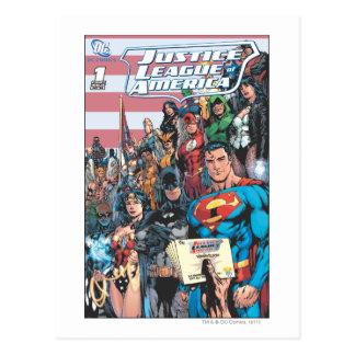 Gerechtigkeits-Liga erster Frage Amerikas Postkarte