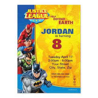 Gerechtigkeits-Liga-Geburtstags-Geburtstag 12,7 X 17,8 Cm Einladungskarte