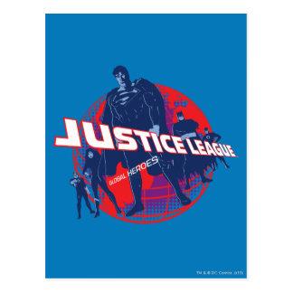 Gerechtigkeits-Liga-globale Helder und Kugel Postkarte