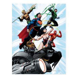 Gerechtigkeits-Liga - Gruppe 1 Postkarte