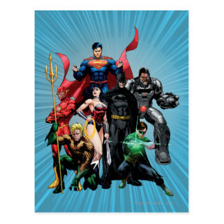 Gerechtigkeits-Liga - Gruppe 2 Postkarte