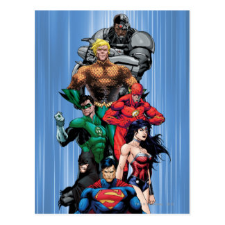 Gerechtigkeits-Liga - Gruppe 3 Postkarte