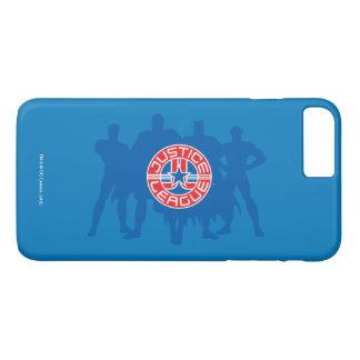 Gerechtigkeits-Liga-Logo und fester iPhone 8 Plus/7 Plus Hülle