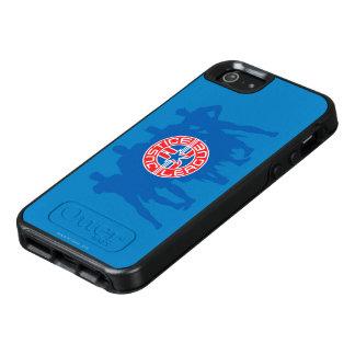 Gerechtigkeits-Liga-Logo und fester OtterBox iPhone 5/5s/SE Hülle