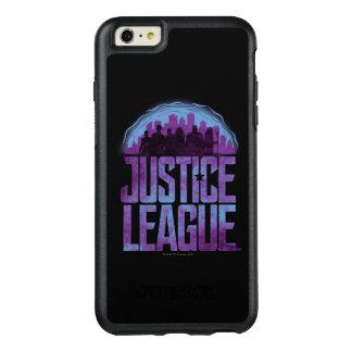 Gerechtigkeits-Liga-Stadt-Silhouette der OtterBox iPhone 6/6s Plus Hülle