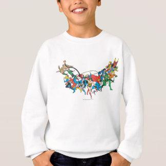 Gerechtigkeits-Liga von Amerika-Gruppe 2 Sweatshirt