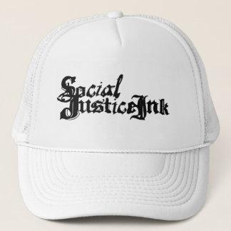 Gerechtigkeits-Tinten-Hut (Weiß und Schwarzes) Truckerkappe