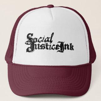 Gerechtigkeits-Tinten-Hut (Weiß und Truckerkappe