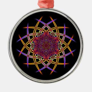 Gerecycelte Rauch-Kunst (7) Silbernes Ornament