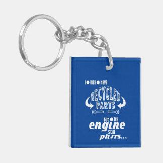 Gerecycelte Teile aber mein Motor-Schnurren Schlüsselanhänger