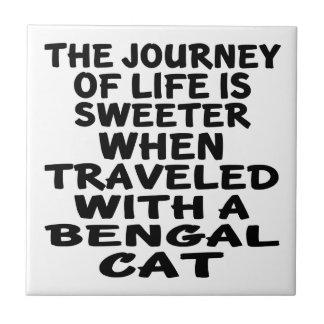 Gereist mit bengalischer Katze Keramikfliese