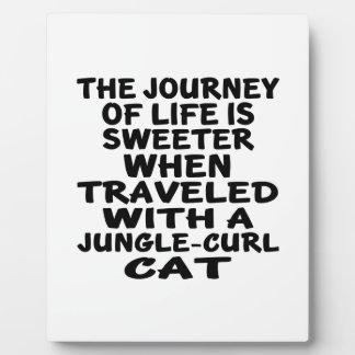 Gereist mit Dschungel-Locke Katze Fotoplatte