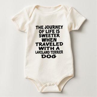 Gereist mit einem Leben-Partner Lakelands Terrier Baby Strampler