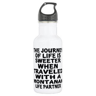 Gereist mit einem montanischen Leben-Partner Trinkflasche