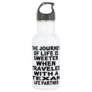 Gereist mit einem Texan-Leben-Partner Trinkflasche