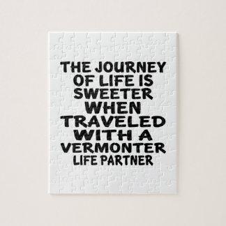 Gereist mit einem Vermonter-Leben-Partner Puzzle