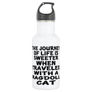 Gereist mit Ragdoll Katze Trinkflasche