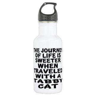 Gereist mit Tabby-Katze Trinkflasche