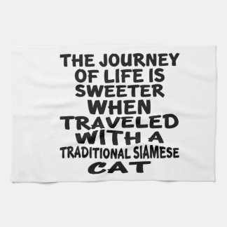 Gereist mit traditioneller siamesischer Katze Handtuch