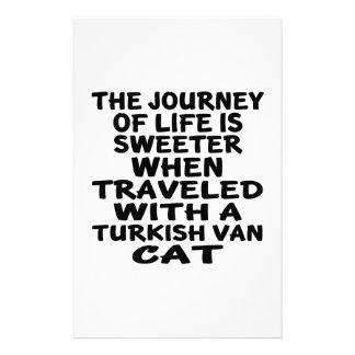 Gereist mit Turkish Van Cat Briefpapier