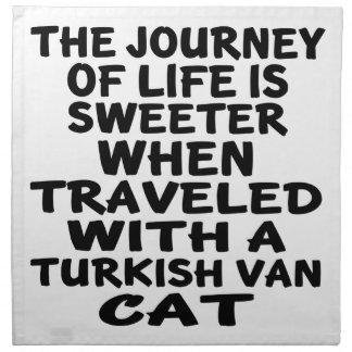 Gereist mit Turkish Van Cat Serviette