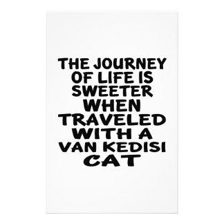 Gereist mit Van Kedisi Cat Briefpapier