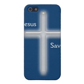 Gerettete-Weißes Kreuz Jesuss iPhone 5 Cover