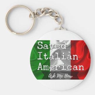 Geretteter, italienischer Amerikaner in Schwarzem Schlüsselanhänger