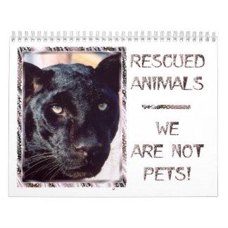 Geretteter Tier-Kalender Abreißkalender