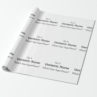 Geriatrische Krankenschwester Geschenkpapier