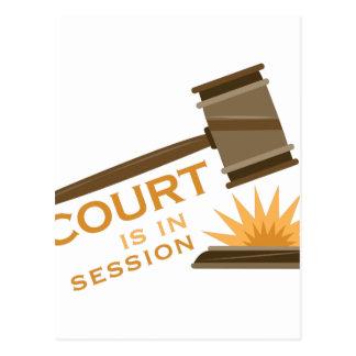 Gericht in der Sitzung Postkarte