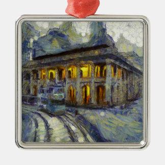 Gericht Van Gogh Hong Kong Quadratisches Silberfarbenes Ornament
