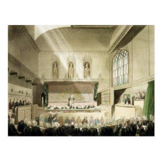 Gericht von Bench Königs, Westminster Hall Postkarte