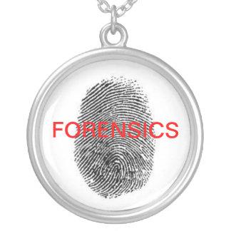 Gerichtlicher Fingerabdruck-Anhänger Halskette Mit Rundem Anhänger