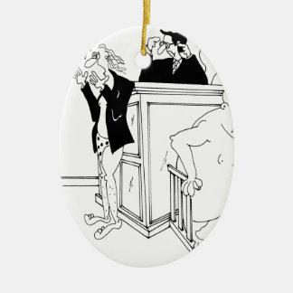 Gerichts-Cartoon 5490 Keramik Ornament