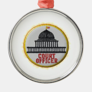 Gerichts-Offizier Silbernes Ornament