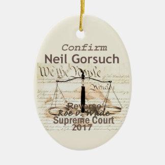 Gerichts-Verzierung Neils GORSUCH Keramik Ornament