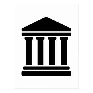 Gerichtsgerechtigkeitssymbol Postkarte