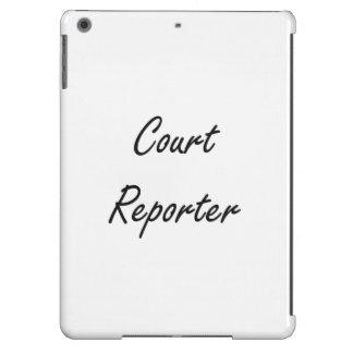 Gerichtsschreiber-künstlerischer Job-Entwurf iPad Air Hülle