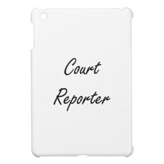Gerichtsschreiber-künstlerischer Job-Entwurf Hüllen Für iPad Mini